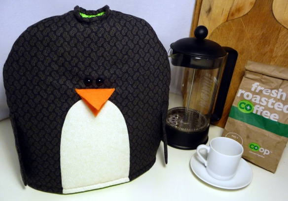 penguin french press cozy